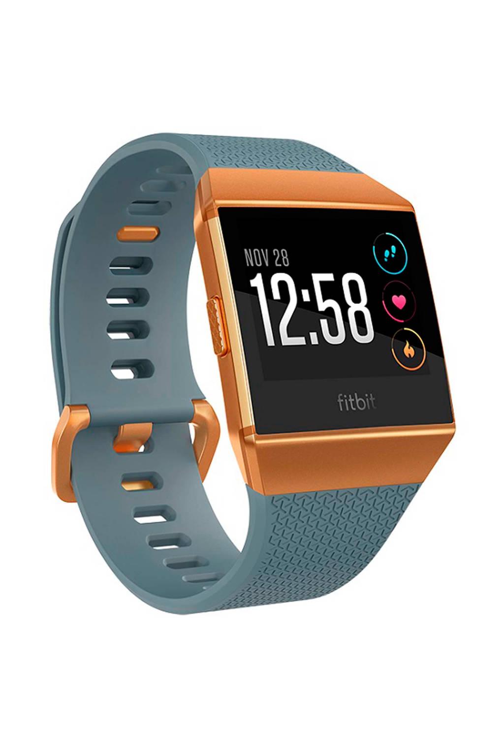 Fitbit Ionic smartwatch, Blauw/oranje