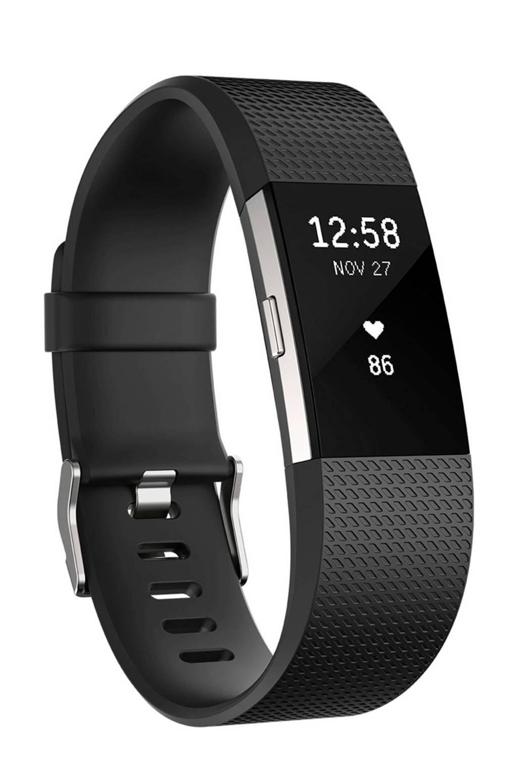 Fitbit Charge 2 activiteiten tracker (maat S), Zwart