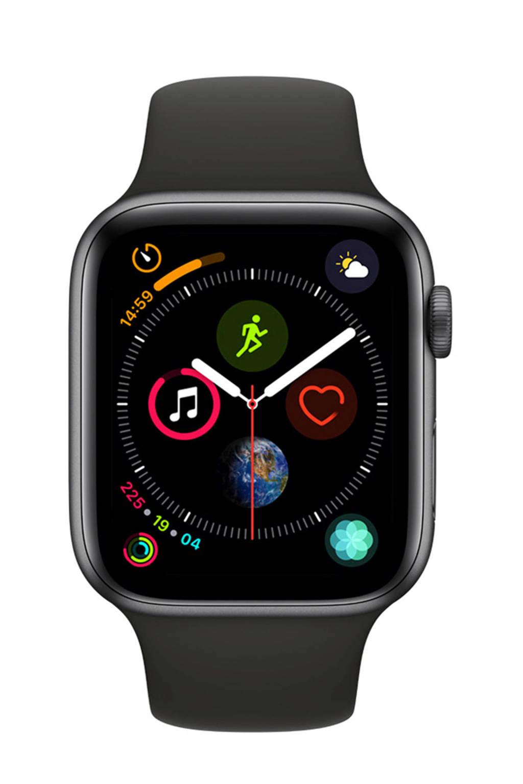 Apple Watch Series4 GPS44mm sportband, Grijs/zwart