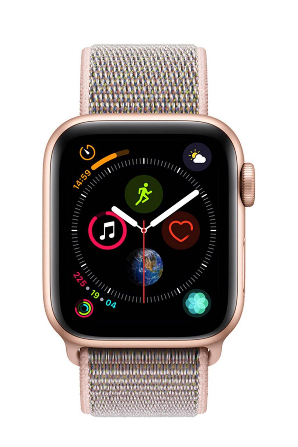Apple Watch Series4 GPS40mm nylon band, goud/roze