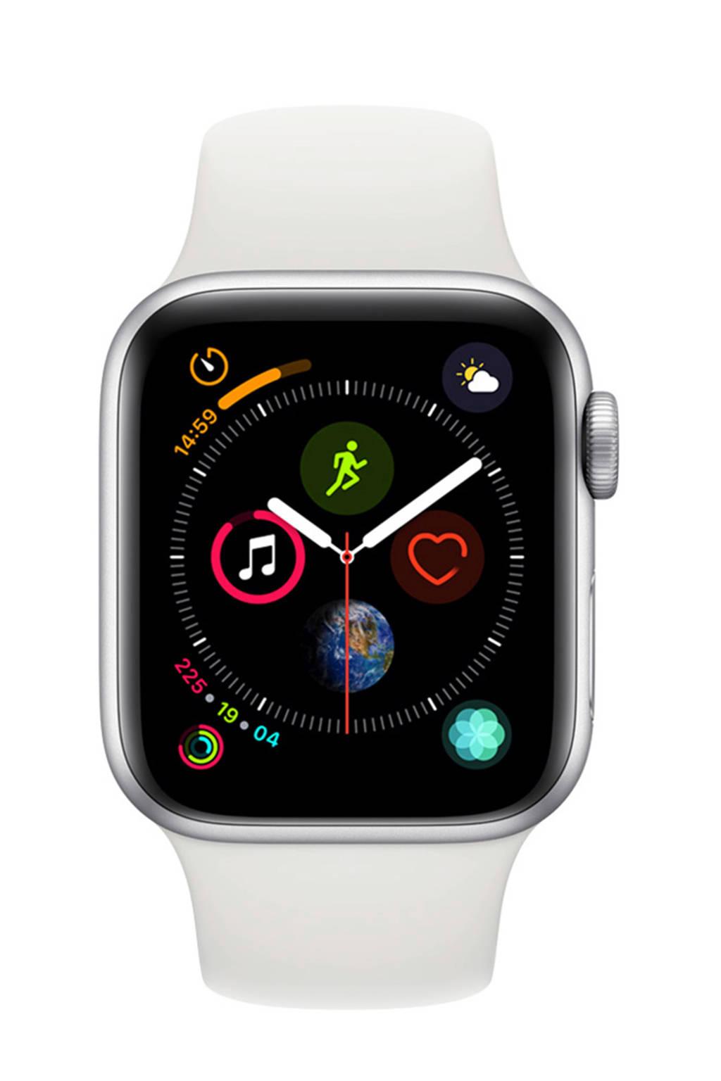 Apple Watch Series4 GPS40mm sportband, Zilver/wit