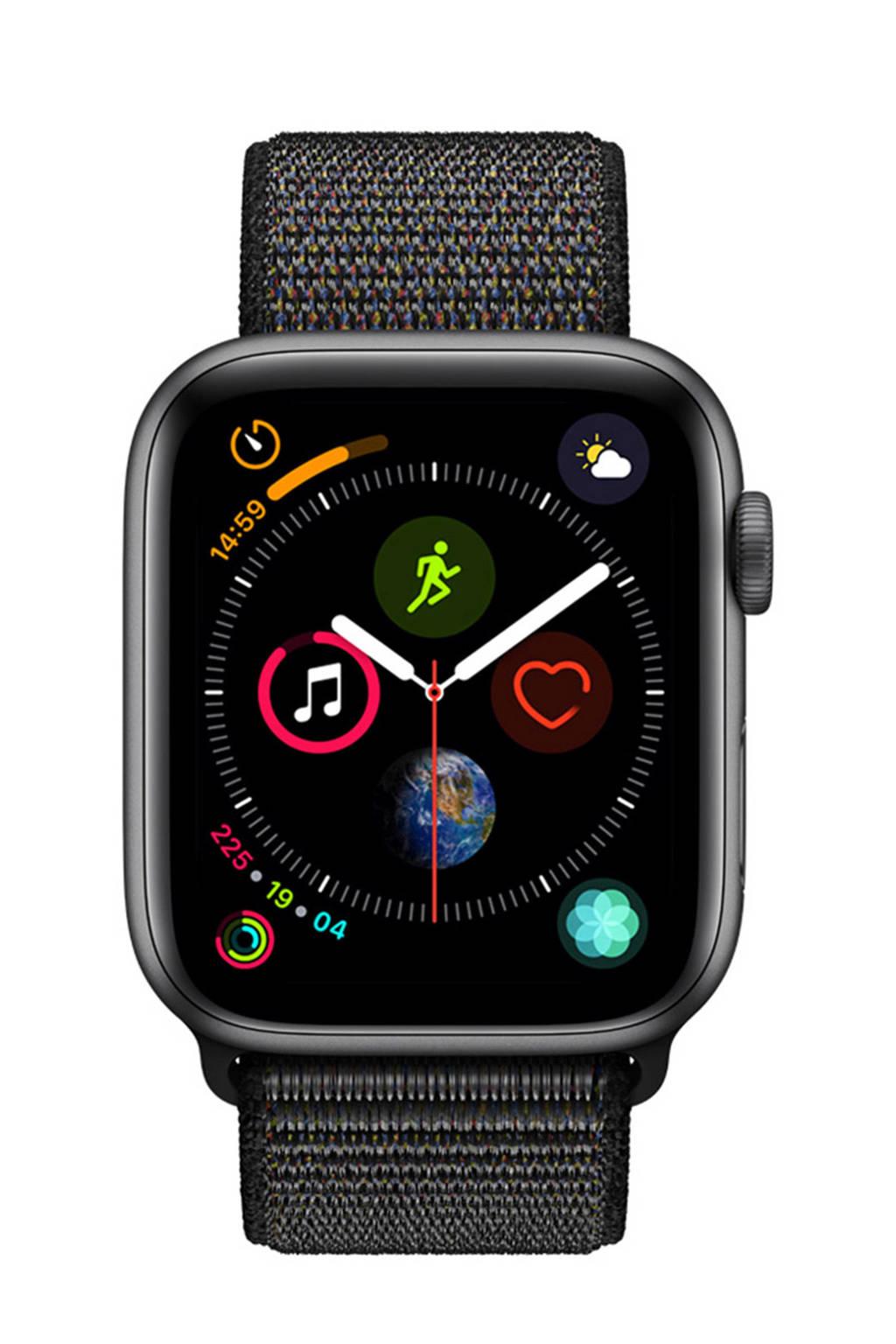 Apple Watch Series4 GPS44mm nylon band, Grijs/zwart