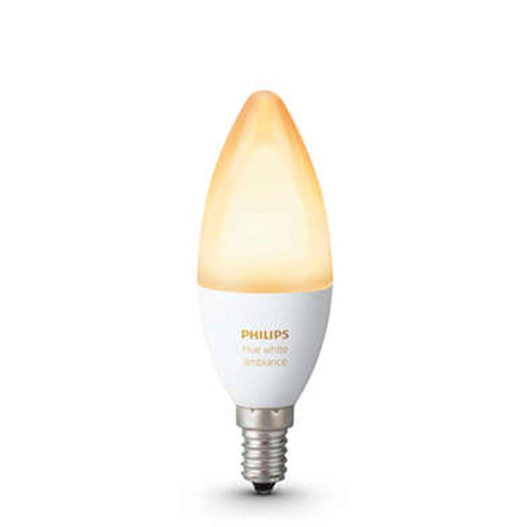 Philips Hue Ambiance LED kaarslamp E14, Wit