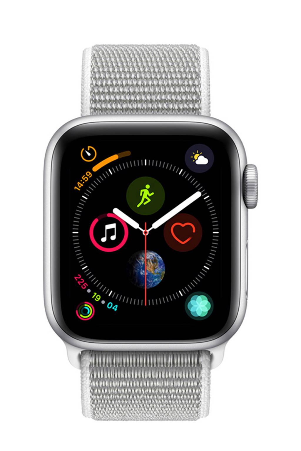 Apple Watch Series4 GPS40mm nylon band, Zilver/grijs