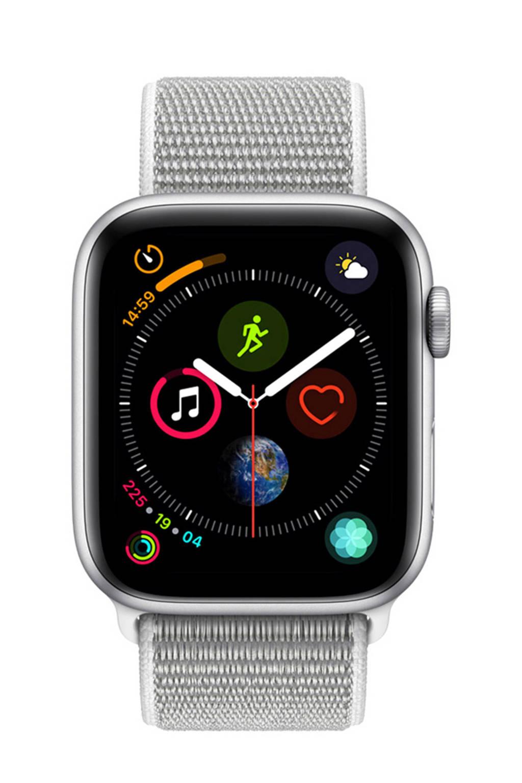 Apple Watch Series4 GPS44mm nylon band, Zilver