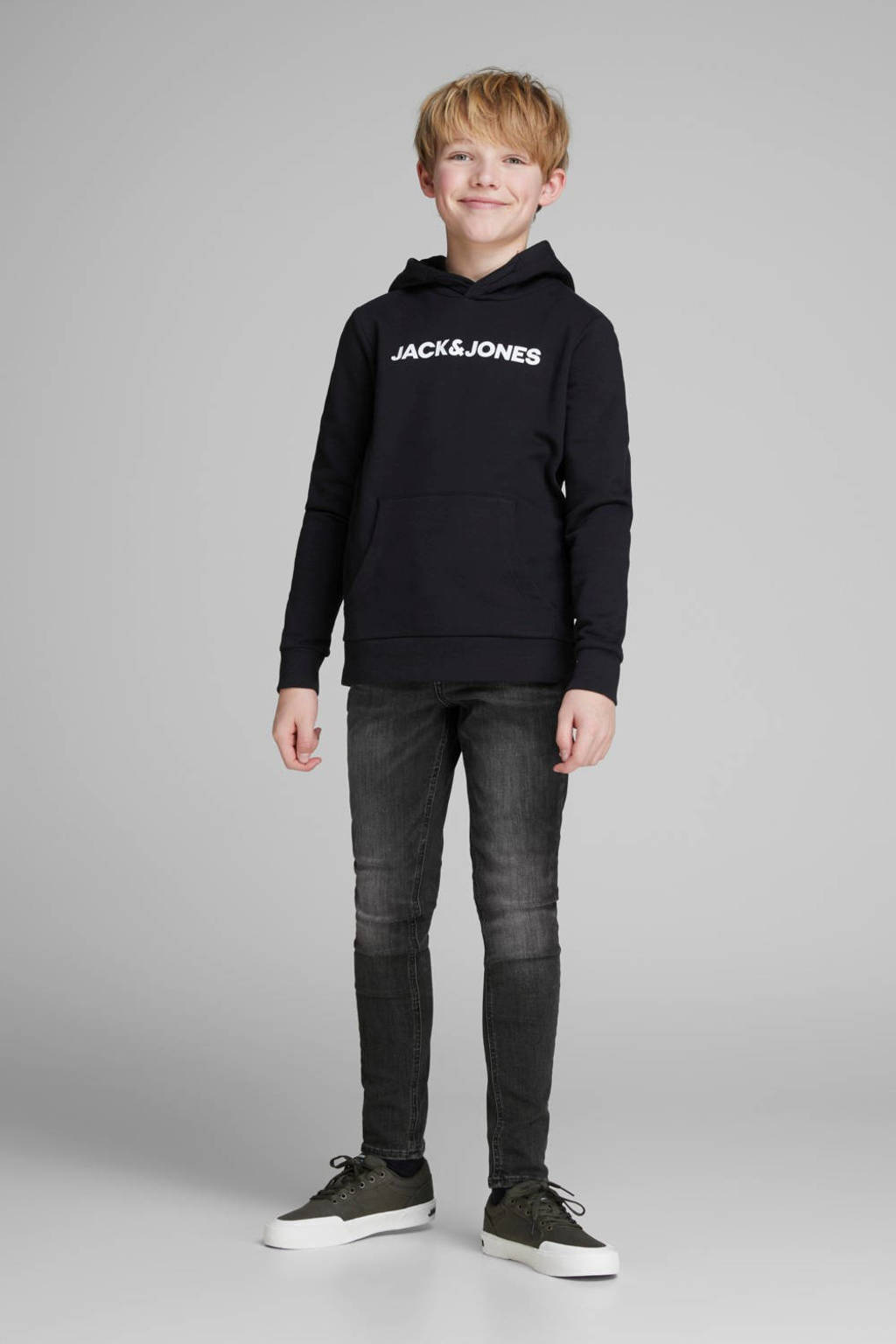 JACK & JONES JUNIOR skinny jeans grijs, Grijs