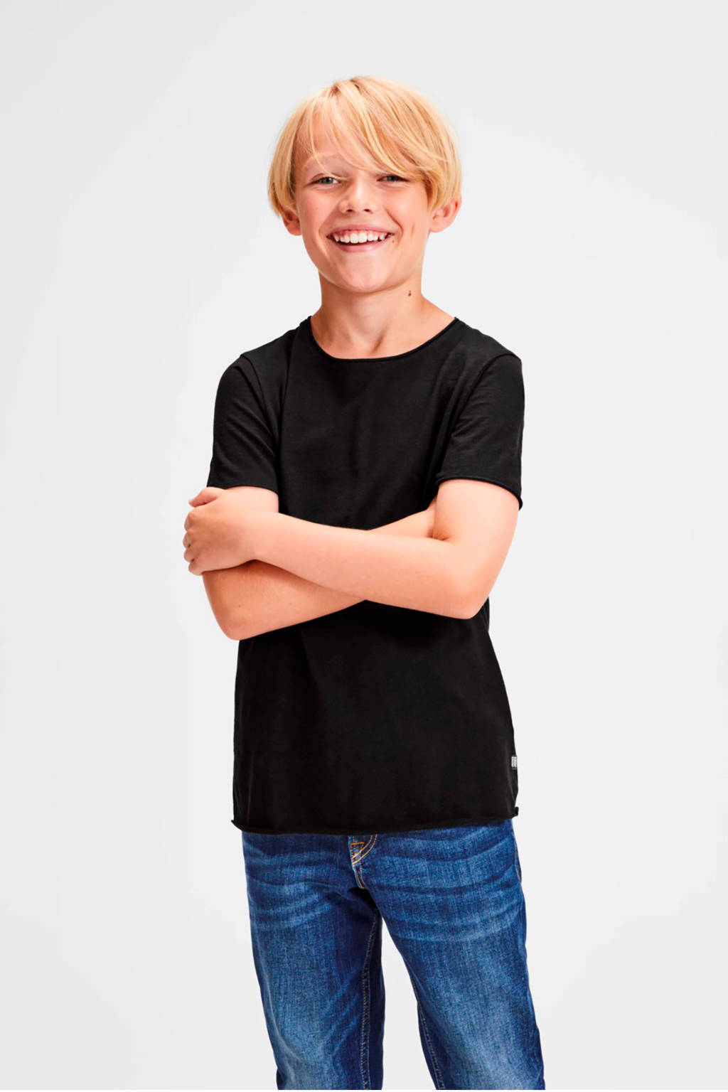 Jack & Jones Junior T-shirt Bas zwart, Zwart