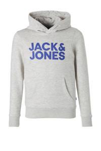 JACK & JONES JUNIOR hoodie Corp met logo lichtgrijs melange, Lichtgrijs melange