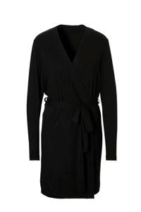 Sassa Mode badjas met viscose zwart, Zwart