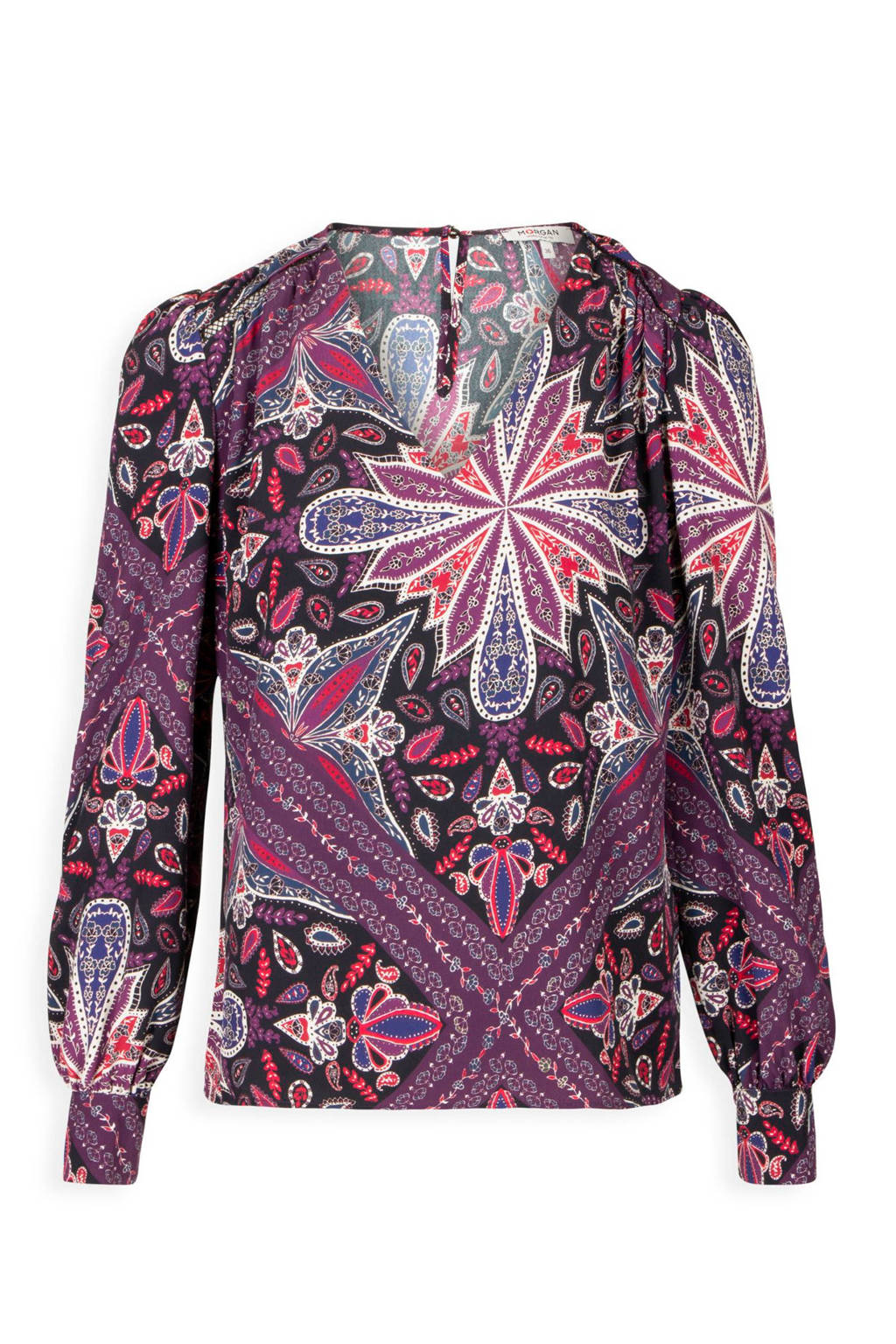 Morgan top Ola met allover print, Roze