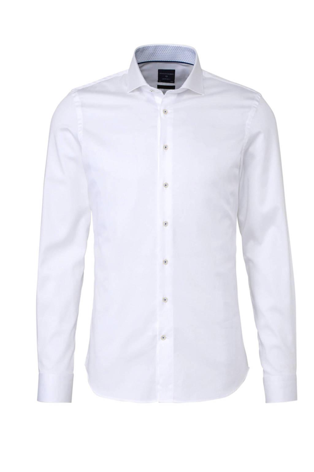 Profuomo super slim fit overhemd wit, Wit