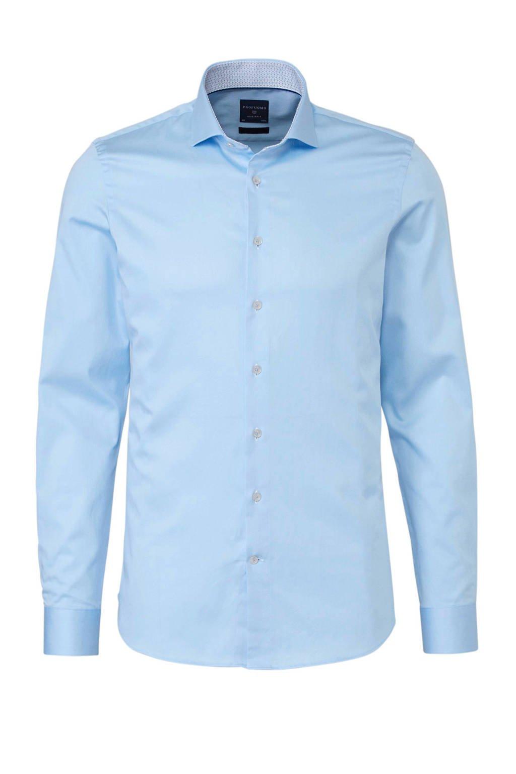 Profuomo super slim fit overhemd blauw, Blauw