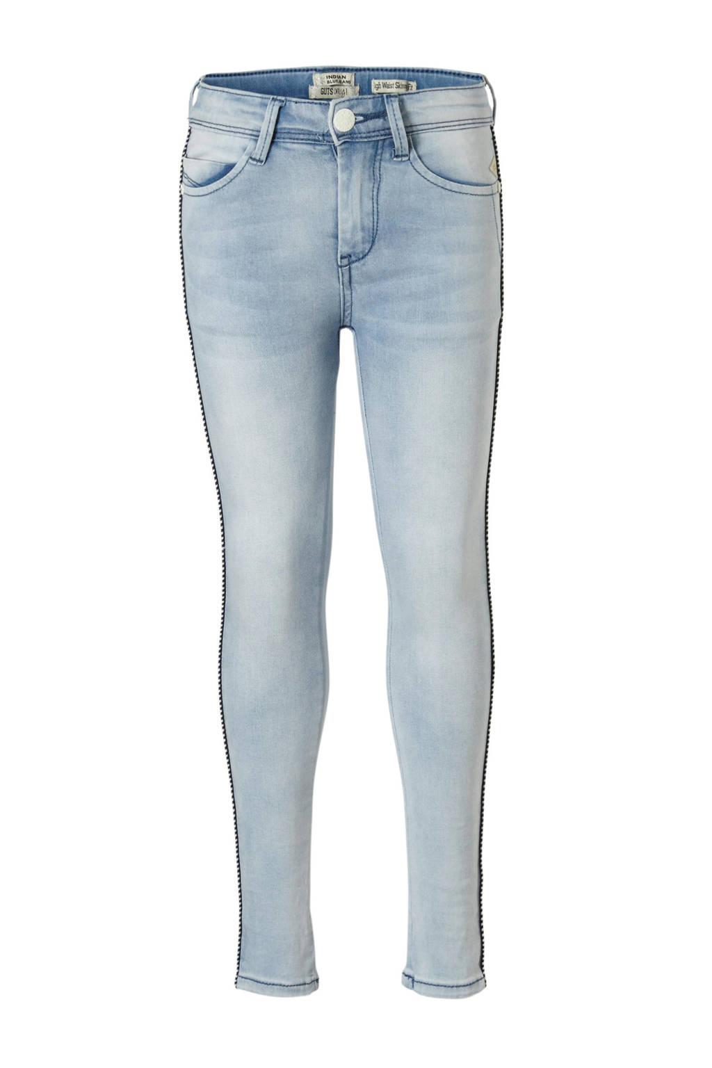 Indian Blue Jeans high waist skinny jeans Lois met zijstreep, Light denim