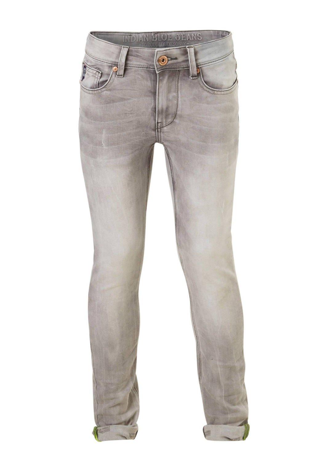 Indian Blue Jeans skinny fit jeans Ryan grijs, Grijs