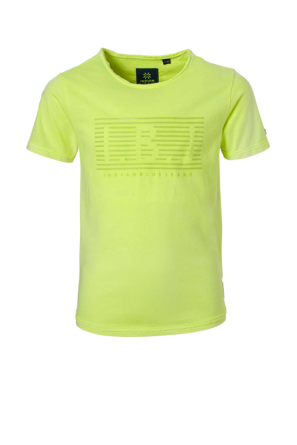 Indian Blue Jeans T-shirt met logo lime, Limegroen