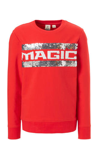 sweater met pailletten rood