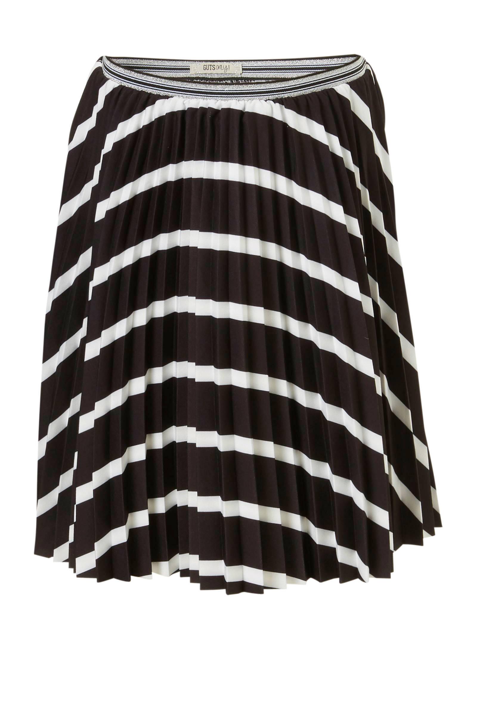 rok zwart wit gestreept