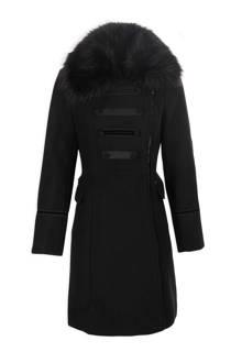 wollen coat zwart