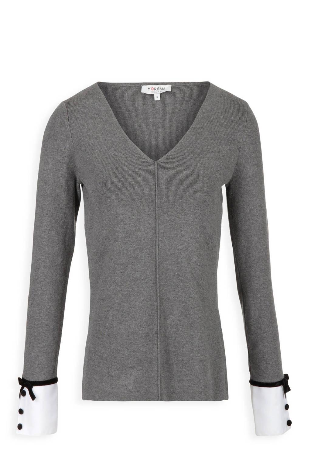 Morgan trui met blouse detail grijs, Grijs