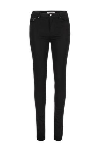 7/8 stretch broek met katoen zwart