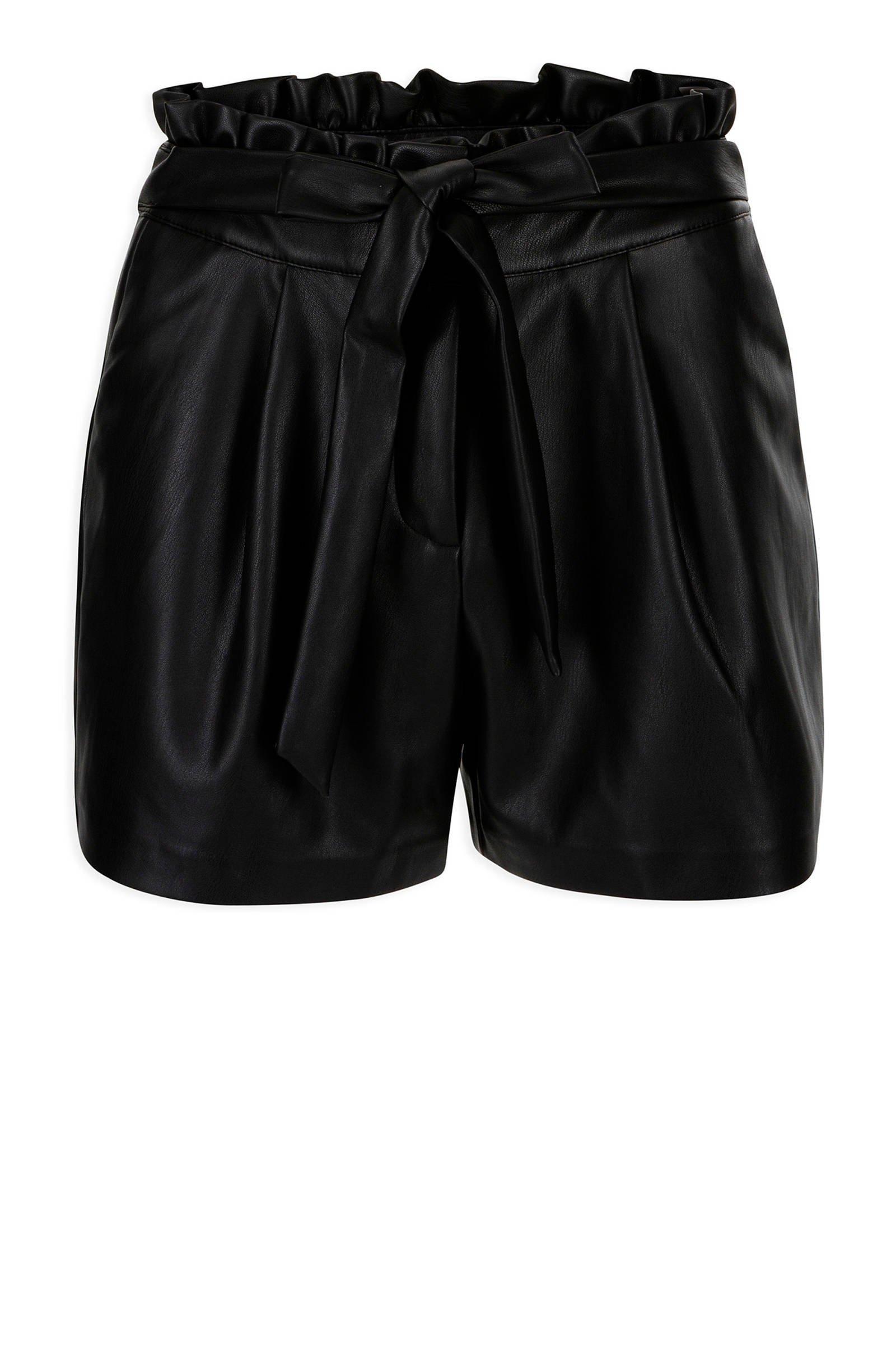 Verwonderend Morgan imitatieleren short Shiny zwart | wehkamp CG-67