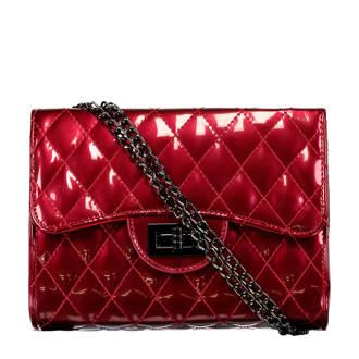lak crossbody tas rood