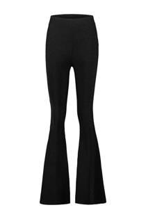 CoolCat high waist flared glitterbroek zwart