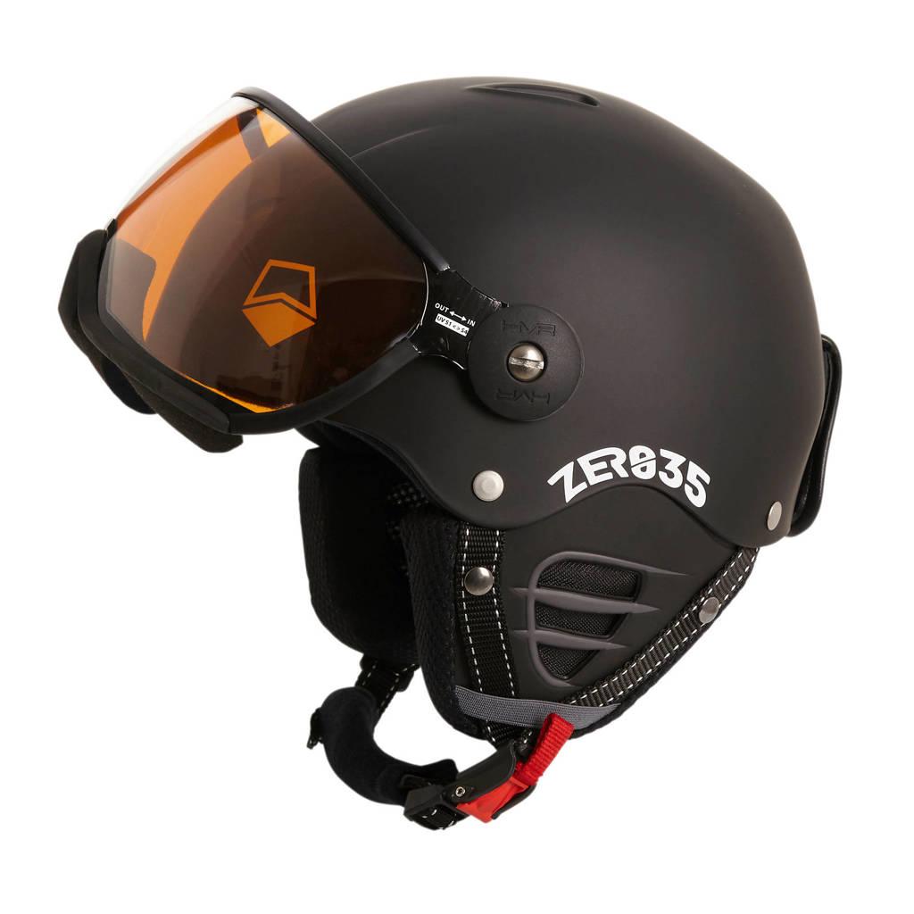 HMR ZER035 Basic skihelm mat zwart, Mat zwart