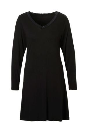 nachthemd met kant zwart