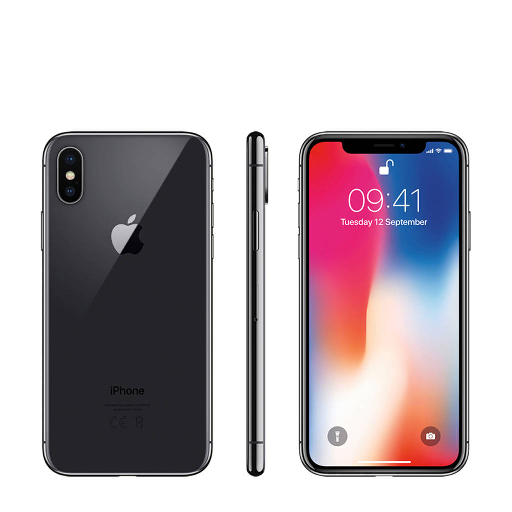 Apple iPhone X 64GB zwart, Zwart