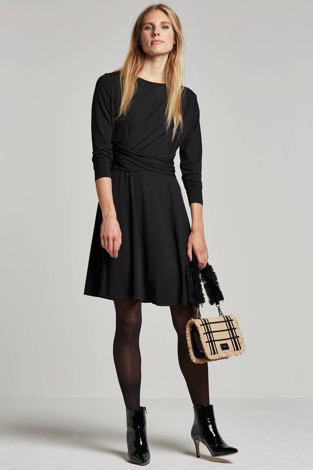 ONLY jurk met overslag, Zwart