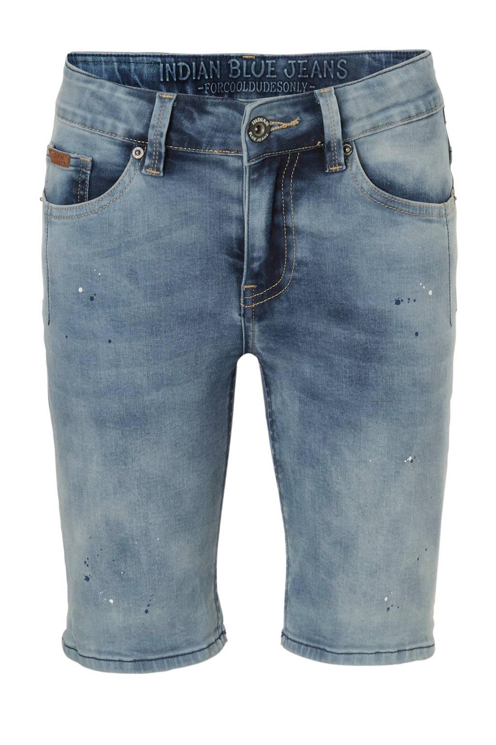 Indian Blue Jeans slim fit jeans bermuda Dann, Blauw
