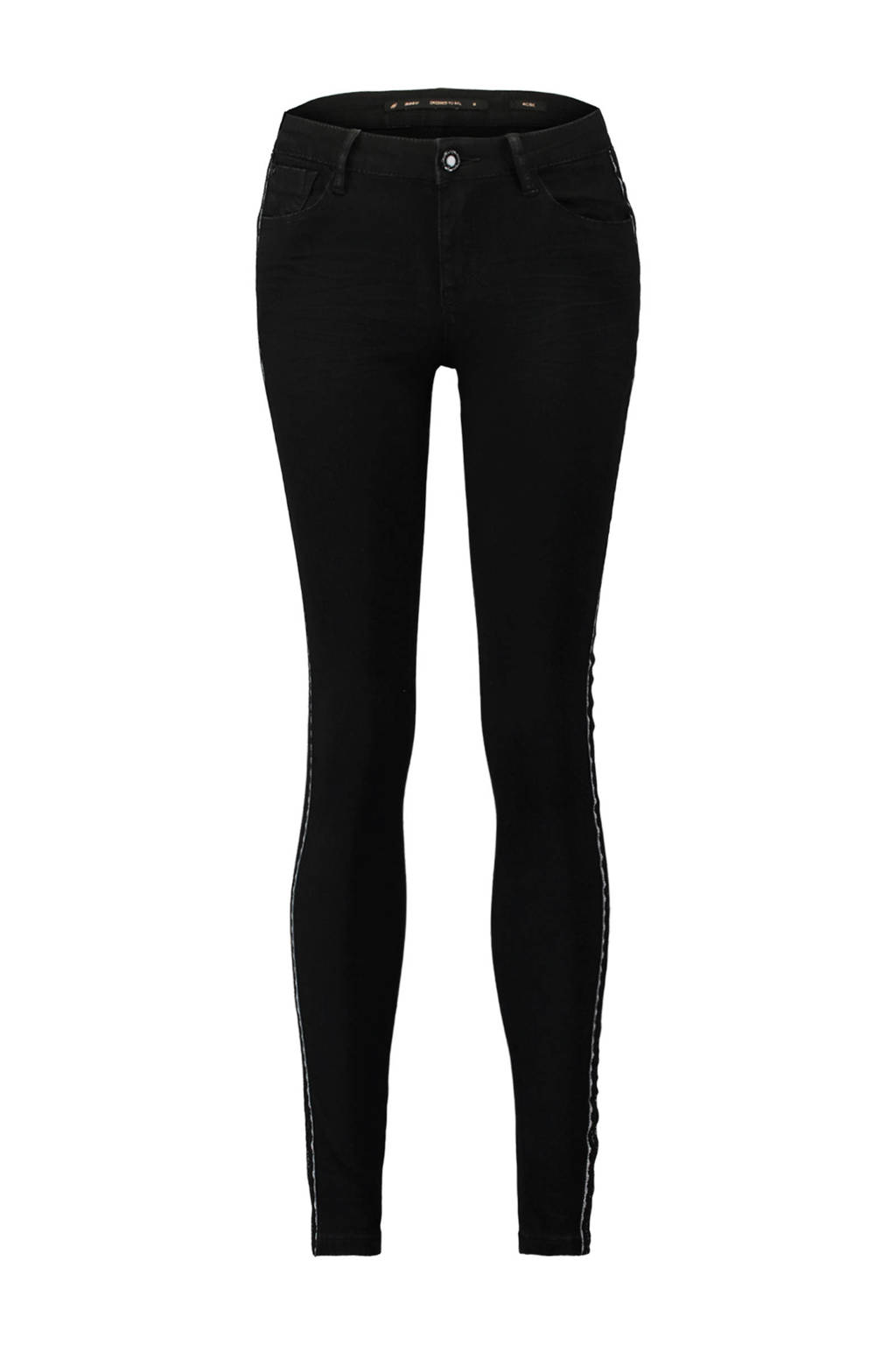 CoolCat skinny fit jeans zwart, Denim black