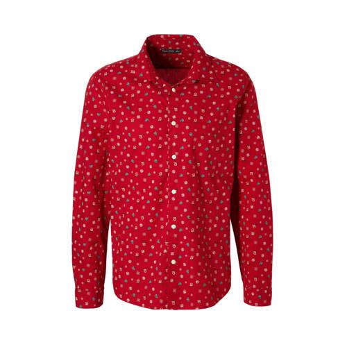 overhemd met kerstmotief rood