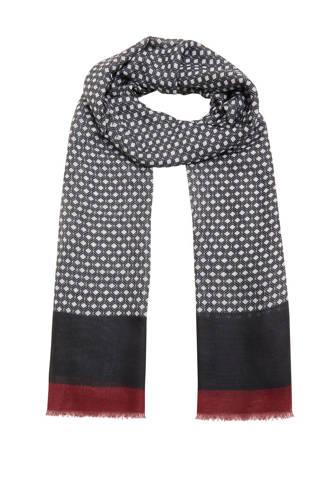 sjaal met print marine