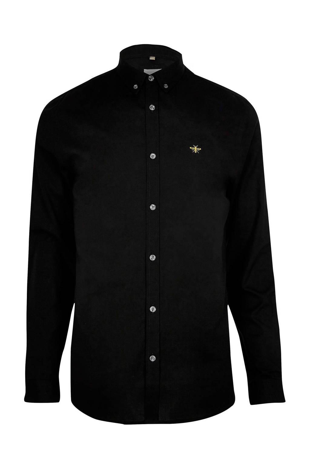 River Island overhemd, Zwart
