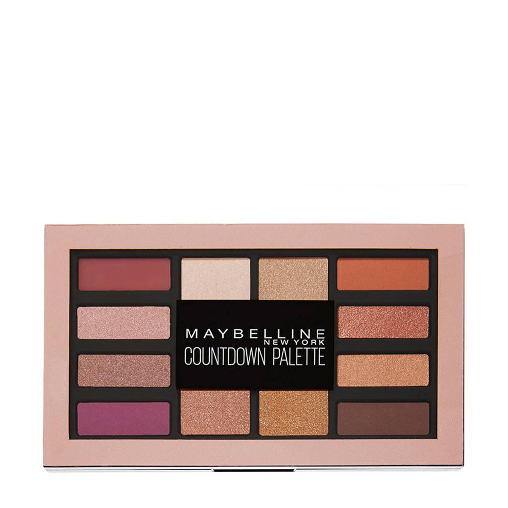Maybelline Countdown oogschaduw palette, Bruin