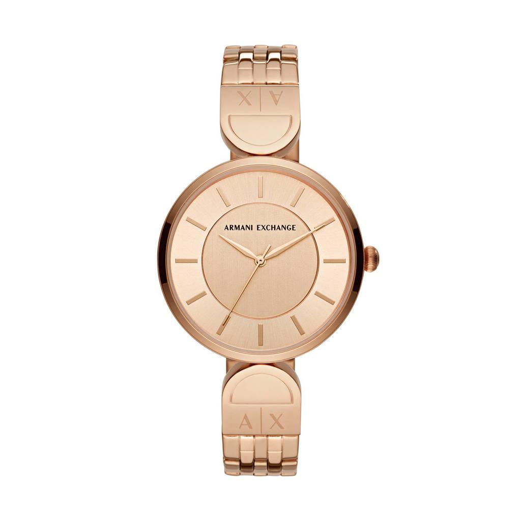 Armani Exchange Brooke Dames Horloge AX5328, Rosé