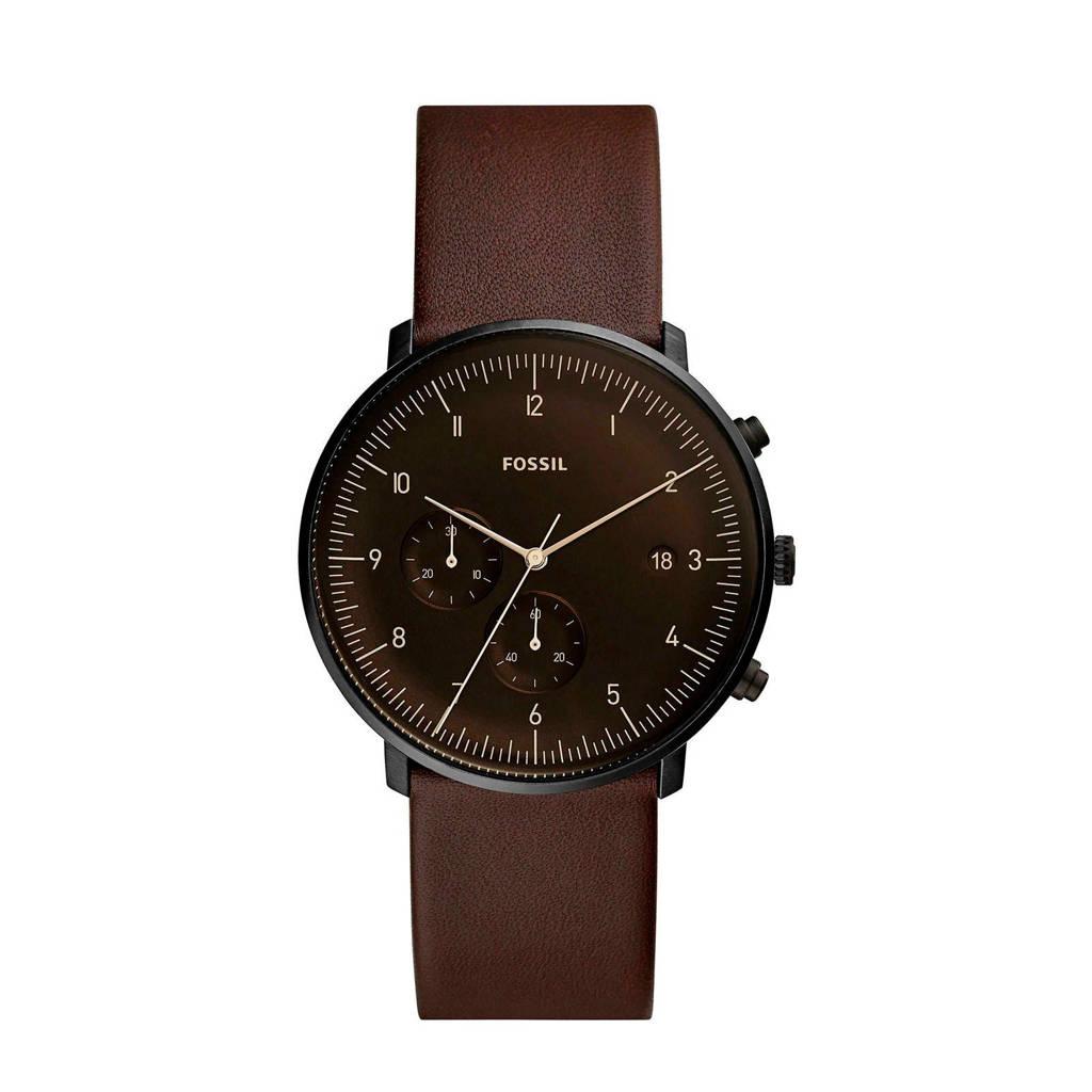 Fossil horloge FS5485, Bruin/zwart