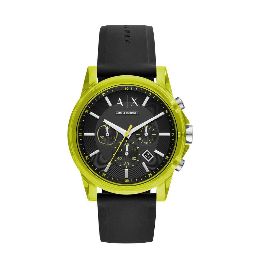 Armani Exchange horloge AX1337, Zwart/groen