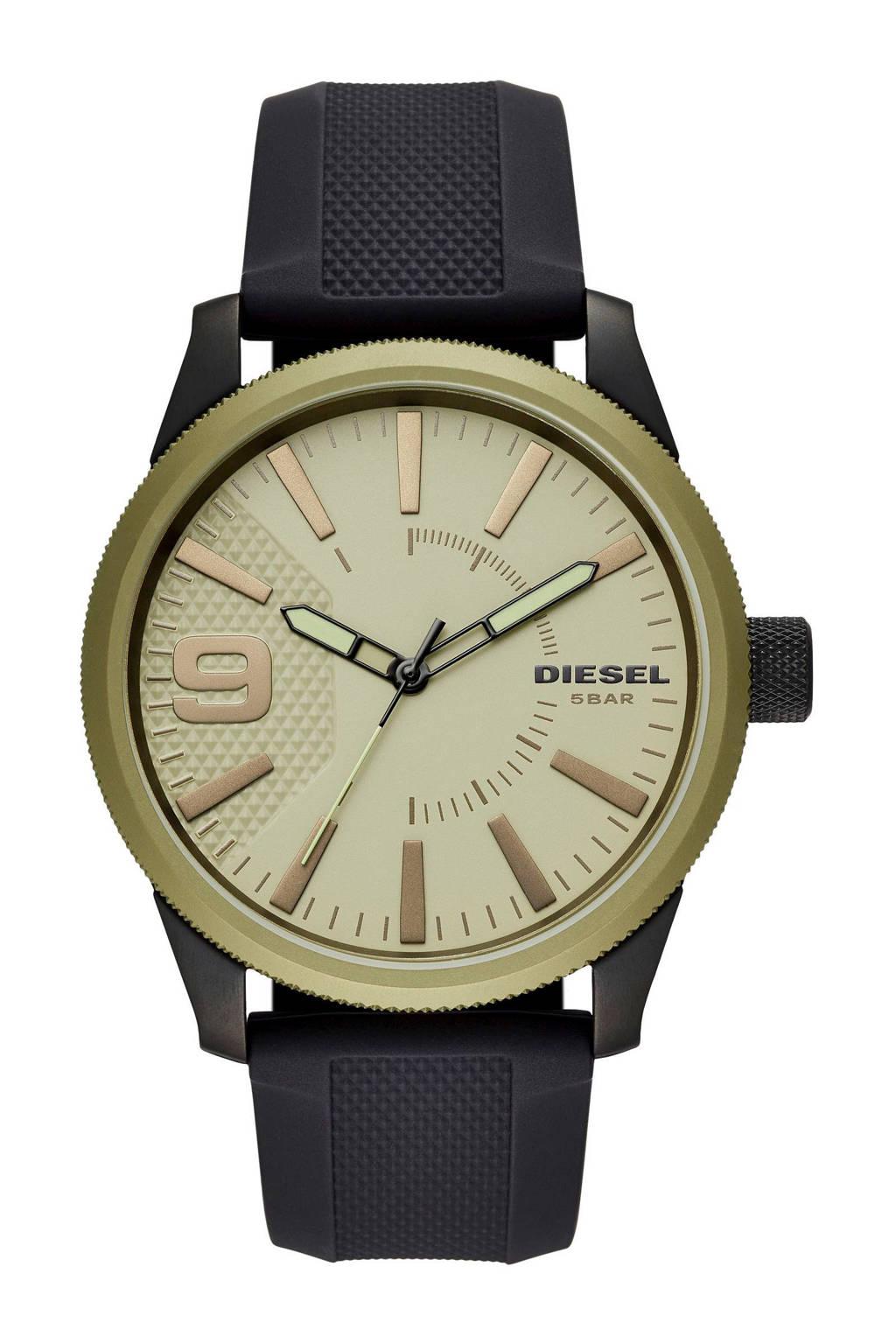 Diesel horloge Rasp NSBBDZ1875, Beige/goud