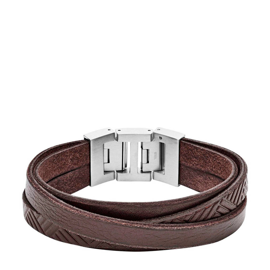 Fossil Vintage Casual Heren Armband JF02999040, Zilver