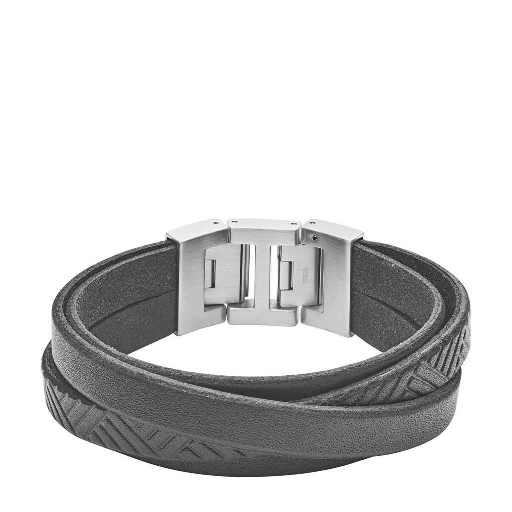 Fossil heren armband Vintage Casual JF02998040, Zwart