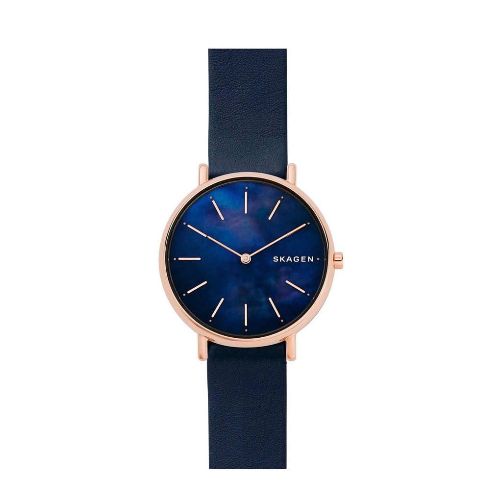 Skagen horloge Signatur SKW2731, Rosé/blauw