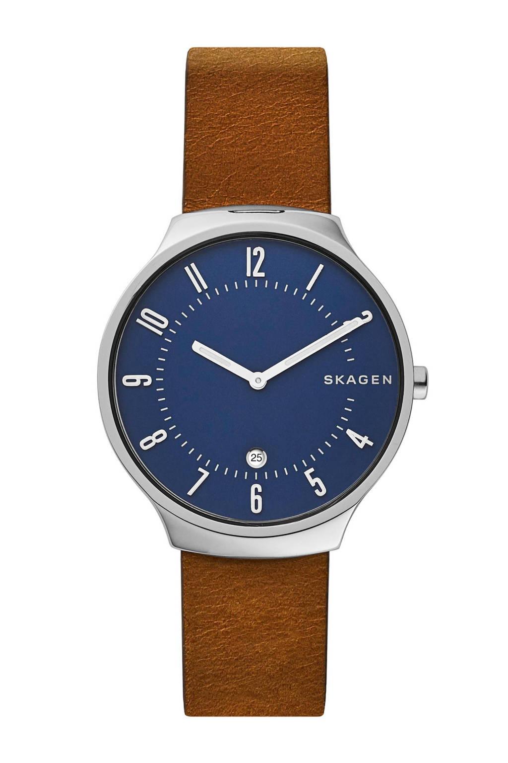 Skagen horloge Grenen SKW6457, Zilver/bruin
