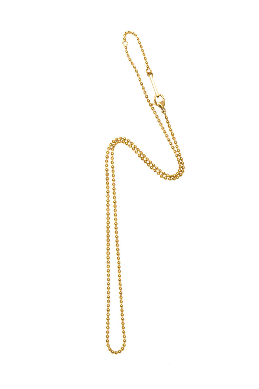 Bandhu ketting Small ball Chain 14K gold plated, Goud