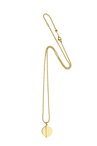 ketting Minimal Coin 14K gold plated