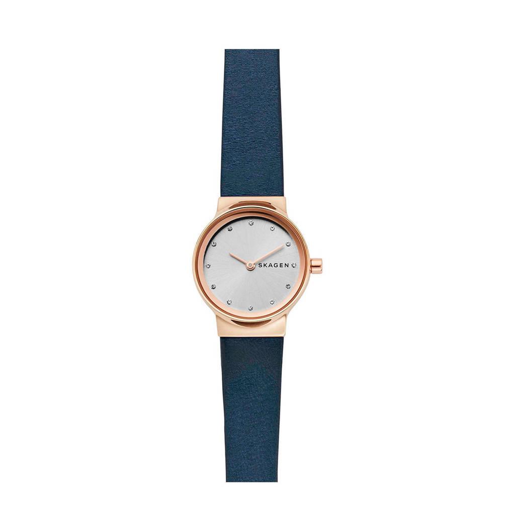 Skagen horloge SKW2744, Blauw/rosegoud