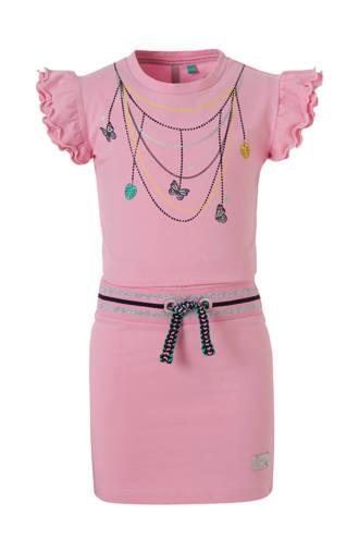 jurk Wiske met print roze
