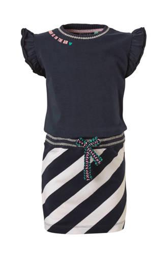 jurk Sabina met strepen blauw